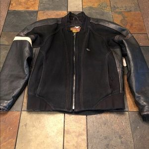 Harley Davidson Women's Small Leather/Wool Jacket